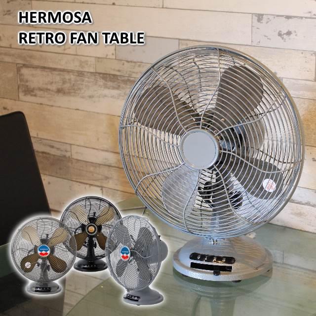 【あす楽】2019年版ハモサレトロファンテーブル tablefan 卓上扇風機 レトロな卓上扇風機 風量3段階、首振りのアナログでシンプルなおしゃれ扇風機【送料無料】