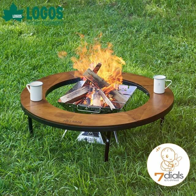 ロゴス/LOGOS 2020年新作 アイアンウッド囲炉裏サークルテーブルL 丸型の囲炉裏で大人数で焚き火を囲めるウッドテーブル ウッドとアイアンの組み合わでおしゃれなキャンプライフに【あす楽】【送料無料】