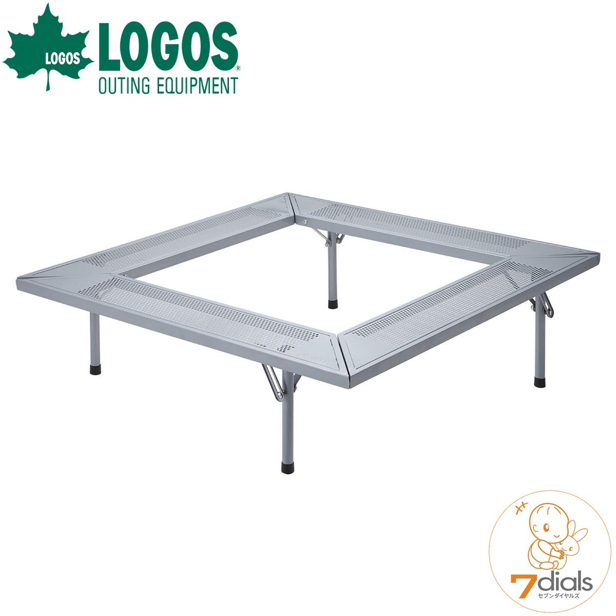 LOGOS/ロゴス 囲炉裏テーブルLIGHT-XL ロゴスの焚火ピラミッドグリルXLがちょうど設置できる囲炉裏テーブル コンパクト収納 テーブルはコップやお皿なども置けるので便利【送料無料】