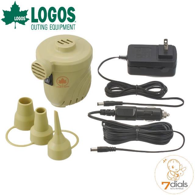 パワーアップしたAC DC対応ポンプ LOGOS ロゴス AC 4mロングDCコード DC オンラインショップ 保障 0.51PSI AC電源とDC12V電源使用可能な電動ポンプ 2wayパワーブロー