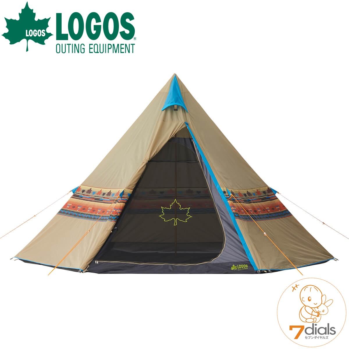 LOGOS/ロゴス LOGOS ナバホティピー400 ティピーテントTepee 400 形と柄がおしゃれで目立つテント キャンプにフェスに人気アイテム【あす楽_土曜営業】【送料無料】