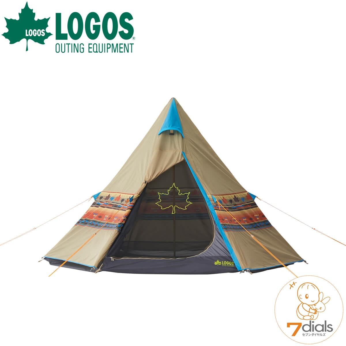 LOGOS/ロゴス LOGOS ナバホティピー300 ティピーテントTepee 300 キャンプにフェスに目立つおしゃれなティピーテント【あす楽_土曜営業】【送料無料】【】