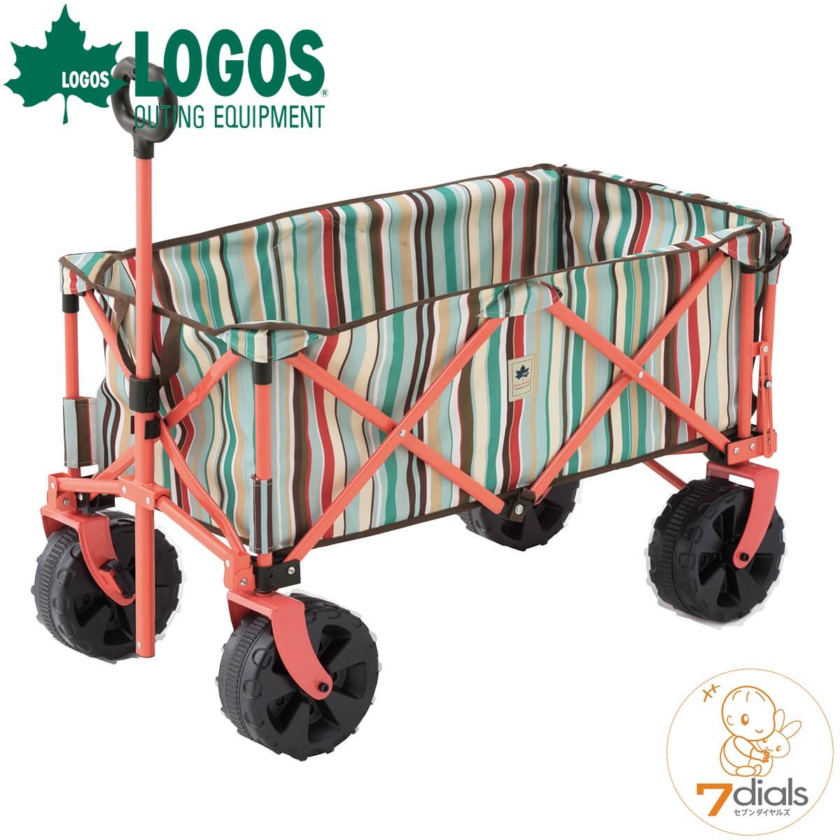 LOGOS/ロゴス 丸洗い長いモノOKキャリー(ブルーストライプ)-AG キャリーカート アウトドア、キャンプ 運動会など荷物をまとめて移動するときに便利 キャリーカート おしゃれ【送料無料】