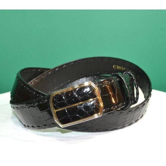 紳士 メンズ ベルト 本革 クロコダイル ワニ革 日本製 belt-cro02 (お問合せ商品)