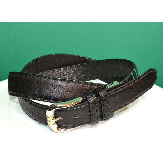 紳士 メンズ ベルト 本革 オーストリッチ ダチョウ革 日本製 110cmロング belt-ost04 (お取り寄せ商品)