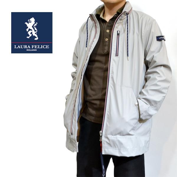 【50%OFF SALE】 ラウラフェリーチェ ハーフコート ライトグレー メンズ ブランド 服 133-1004