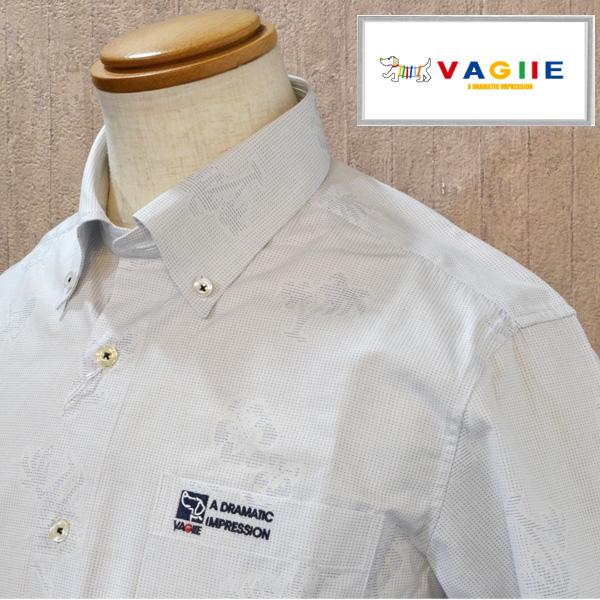 【50%OFF SALE】 バジエ vagiie 長袖 シャツ ブルー系 ドット 綿 vagie メンズ 服 ブランド 日本製 2220-1006