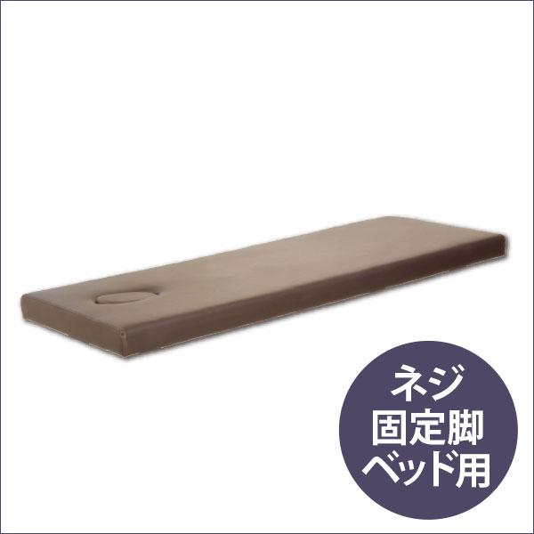 ネジ固定脚ベッド低反発天板(有孔)ブラウン 190×65cm [ マッサージベッド 施術ベッド 整体ベッド エステベッド マッサージ台 施術台 整体 ベッド ベット ][ E-2-1-7 ][ 7エステ ]