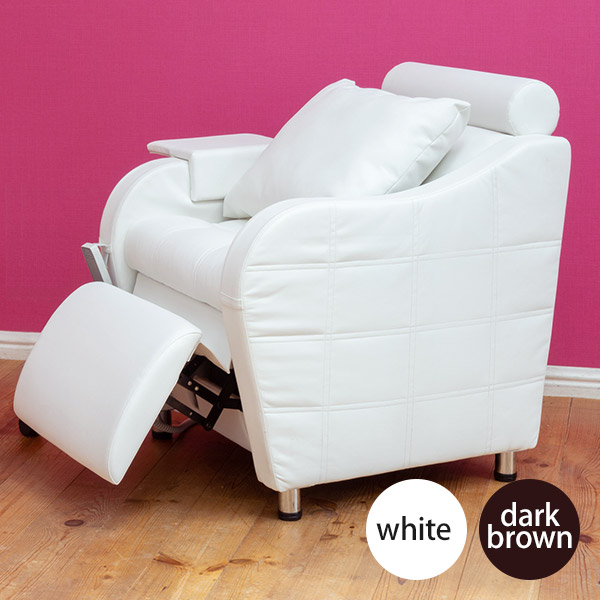 電動チェア FOOT UP D2 全2色 [ 一人用 オットマン一体型 オットマン付き おしゃれ ネイルチェア ネイル椅子 エステ まつげエクステ サロン イス 椅子 チェア ][ N-2 ][ 7エステ ]