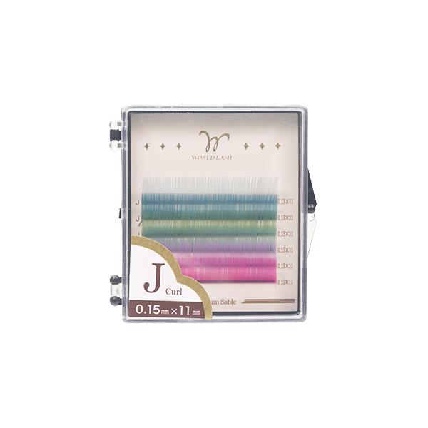 009e674fcb4 <WORLD LASH> four kinds of pro-premium sable coat pastel color MIX ...