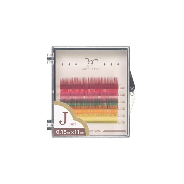 ab710138cf4 <WORLD LASH> four kinds of premium sable coat red yellow color MIX J  ...