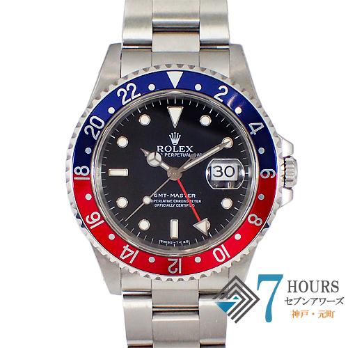 ROLEX(ロレックス)16700 GMTマスター U番 トリチウムダイヤル 青赤ベゼル【中古】