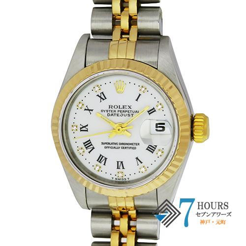 ROLEX(ロレックス)69173G デイトジャスト W番 ホワイトローマダイヤル 保証書【中古】