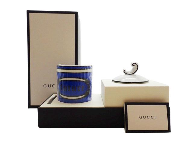 グッチ フレグランス キャンドル エンテリカムの香り ブルー リチャードジノリ 難あり未使用Sランク