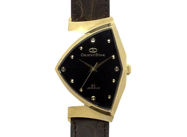 オリエントスター ダイナミック 三角時計 WZ0051NW 1996年・箱・保証書付 【中古】新品同様