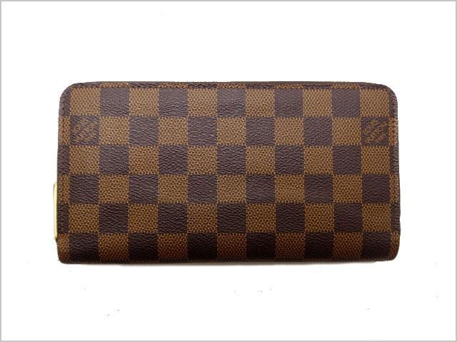 ルイ・ヴィトン ダミエ 長財布 旧型 ジッピーウォレット N60015 【中古】Bランク