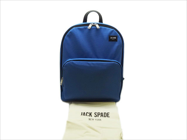 ジャックスペード ソリッド リップストップ ブックパック NYRU2469 アドミラルブルー 未使用