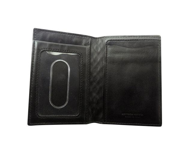 ボッテガヴェネタ イントレチャート 黒 パスケース カードケース 169721 AランクIvb7y6gYf