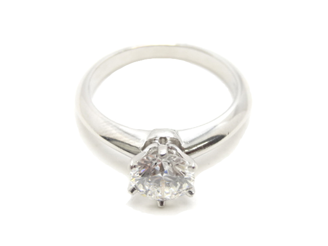Tiffany & Co. ティファニー ダイヤ0.85 G VS1 リング Pt950 #5 【中古】 プラチナ 指輪 立爪