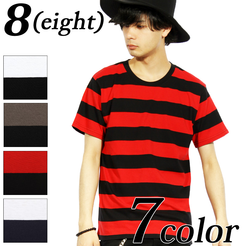 e11dccd1ca Trendy right in the middle cotton crew neck horizontal stripes short  sleeves T-shirts are available in ♪ this term that is an ...