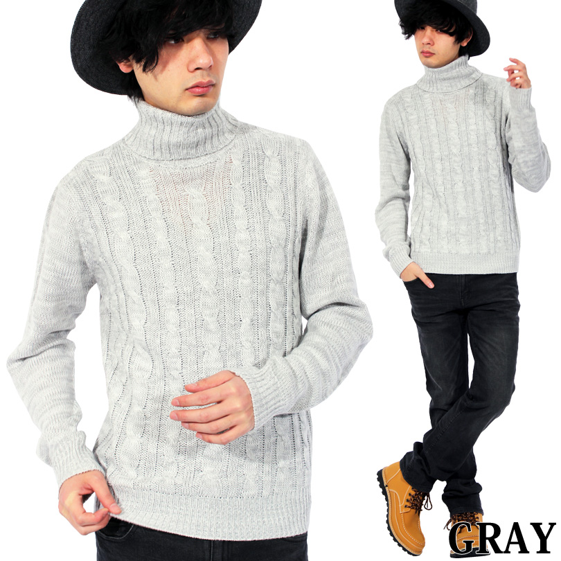8 Eight Turtleneck Knit Sweater Mens Sweater 15 Colors Big New