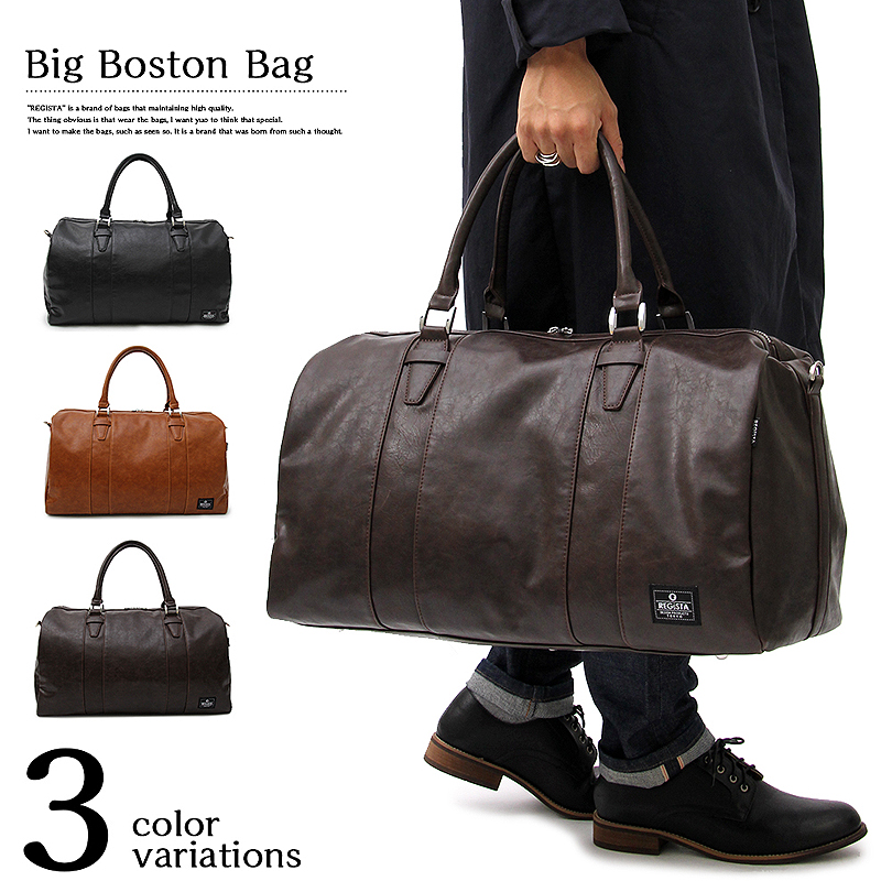 It Becomes All Three Colors Of Boston Bag Men Pu Leather 2way New Work Shoulder Bags Is Extreme Pority In American Casual