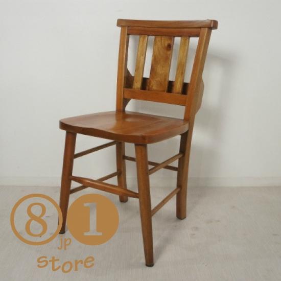英国アンティーク調 チャーチチェア ボックス付き マホガニー教会 椅子 イス カフェ