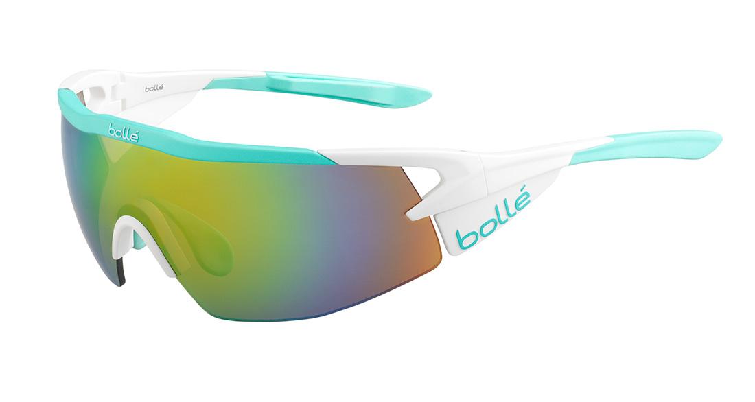 【在庫処分】bolle Aeromax (ボレー エアロマックス サングラス) Matte White/Mint Modulator Brown Emerald oleo AF