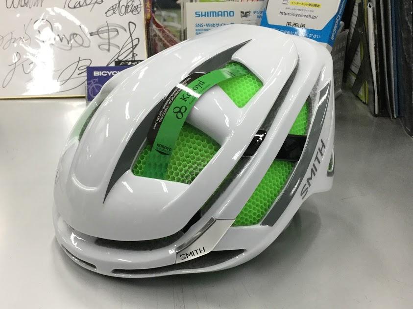 【在庫処分】SMITH Overtake (スミス オーバーテイク )ホワイト ヘルメット 2018