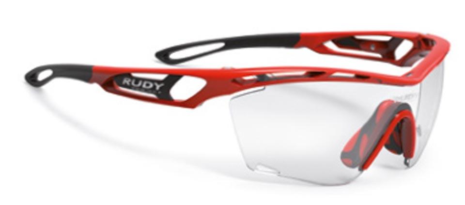 Rudy(ルディ) TRALYX SLIM(トラリクス スリム) ファイアレッドグロスフレーム/インパクト調光レーザーブラックレンズ