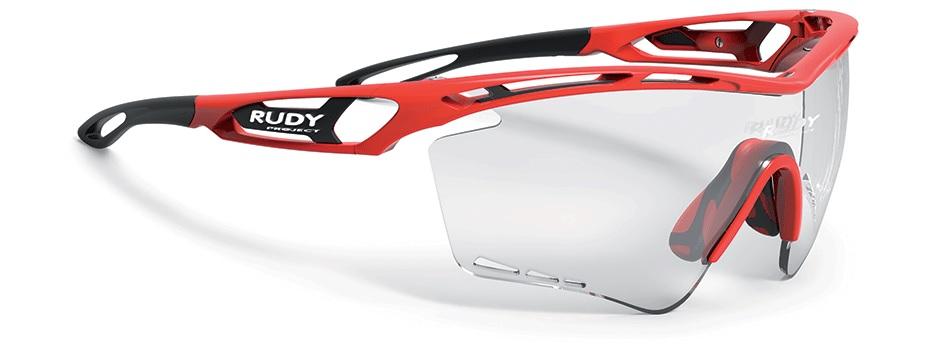 Rudy(ルディ) TRALYX XL(トラリクス XL) ファイアレッドグロスフレーム/インパクトX2 調光ブラックレンズ