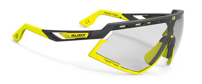 RUDYproject DEFENDER  (ルディプロジェクト ディフェンダー) ブラックマットフレーム/バンパーイエローフルオ/インパクトX2調光レーザーブラックレンズ ニューモデル