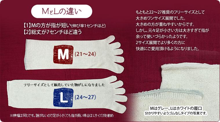 奈良県広陵町の冷えとりニット>お得な2足バリューセット