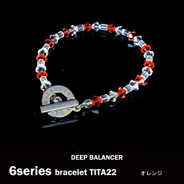 6シリーズ ブレスレット オレンジ SILVER TITA22 Mサイズ