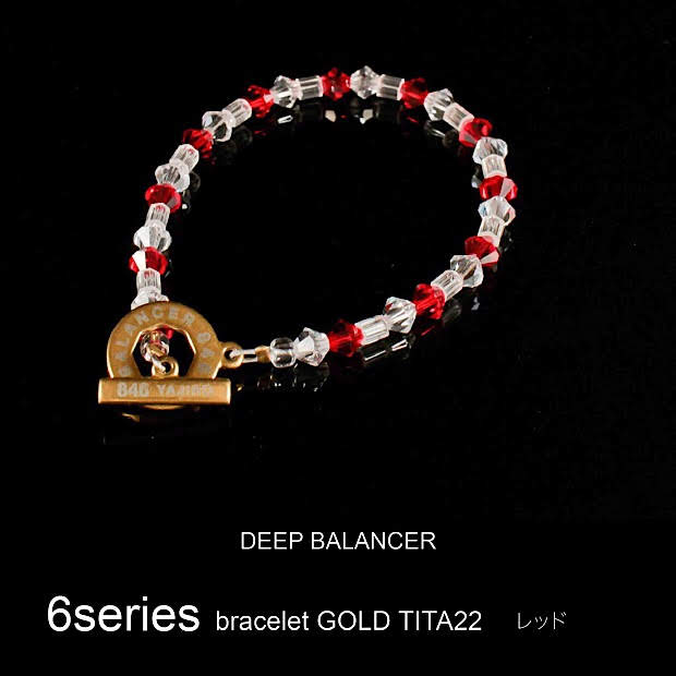 6シリーズ ブレスレット Mサイズ ブレスレット レッド GOLD 6シリーズ TITA22 Mサイズ, arcole(アルコレ):02f99397 --- officewill.xsrv.jp