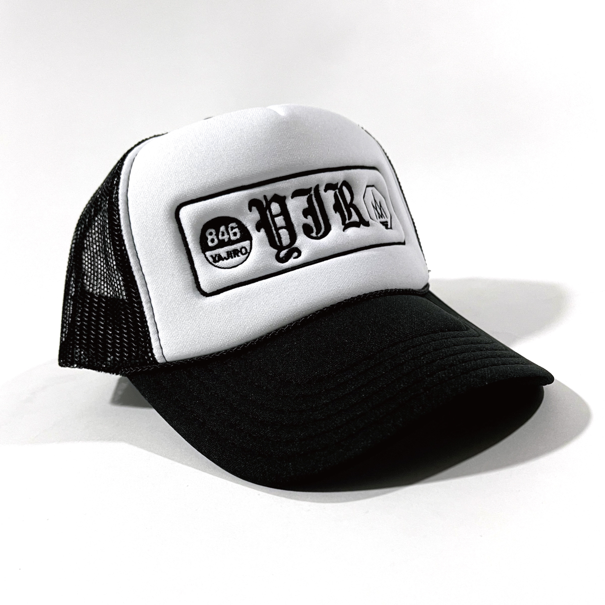846YAJIRO アパレルキャップ 846キャップ Collection Trucker Cap WHITE ホワイト メンズ デザイン 至高 おしゃれ ナンバーデザイン アパレル 帽子 トラッカーキャップ 付与 レディース