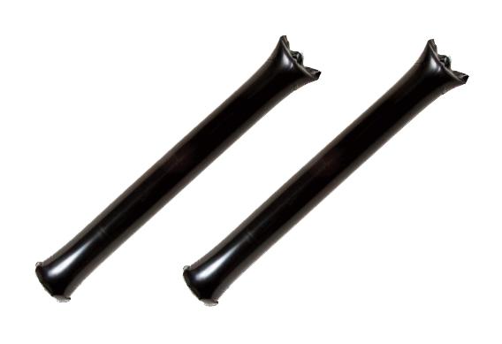 ポリ応援棒(応援スティックバルーン) 黒色 100袋(1袋2本入り)