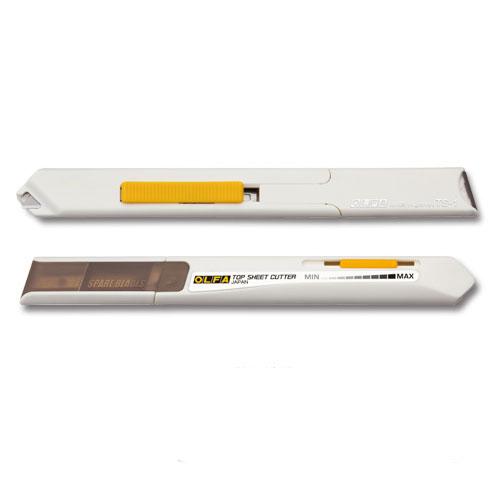 雑誌・新聞の切り抜きに最適の一枚切りカッターナイフです。 【ネコポス便対応可能商品】一枚切りカッターナイフ キリヌーク オルファ<OLFA> 209BS