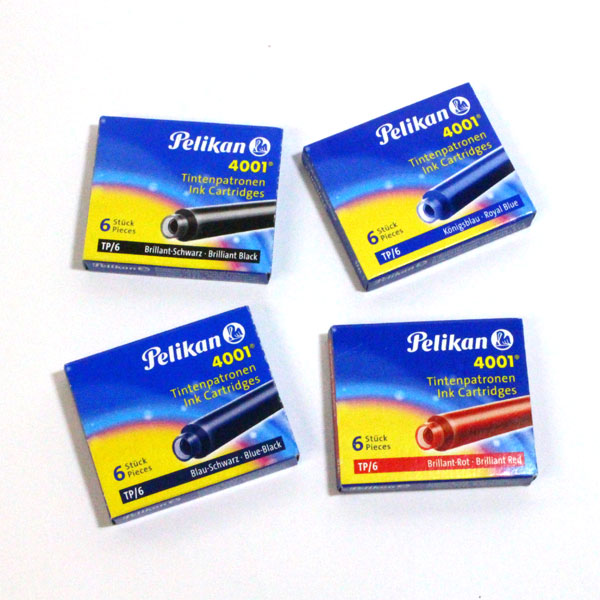 情熱セール ネコポス便対応可能商品 カラーが豊富なペリカンのヨーロッパ規格インクカートリッジ Pelikan 4001 ペリカン カートリッジインク ヨーロッパタイプ TP-6 TP-6-R ネコポス可 予約販売 6本入り