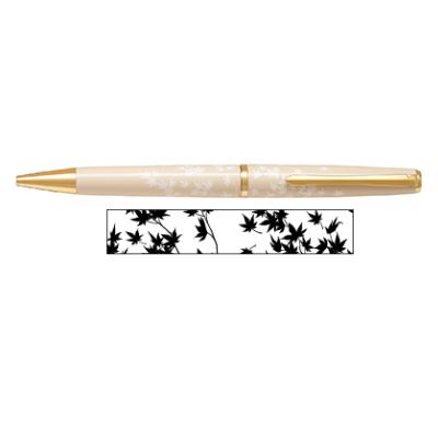 Lady White(レディホワイト) 油性ボールペン紅葉(モミジ) 0.7 黒インクパイロット 140-BD-13SR-MO【送料無料!(※北海道・沖縄は送料700円)】