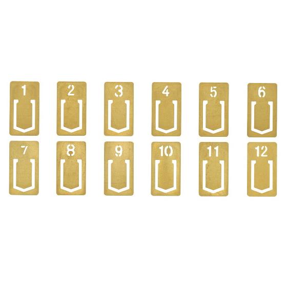 BRASS PRODUCTS<ブラスプロダクト> ブラス(真鍮)クリップ ナンバー  デザインフィル(ミドリ) 28-43080 【ネコポス可】