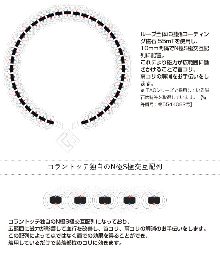 コラントッテ (Colantotte)TAO necklace AURA