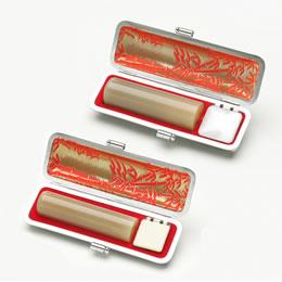 牛角(純白) 実印18.0mm 銀行印15.0mm セット(印鑑/男性用/印鑑セット//通販)