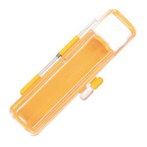 送料180円 直径12mm 送料0円 長さ60mmまでの印鑑用 オレンジ 送料無料でお届けします 印鑑ケース ハーフスケルトン