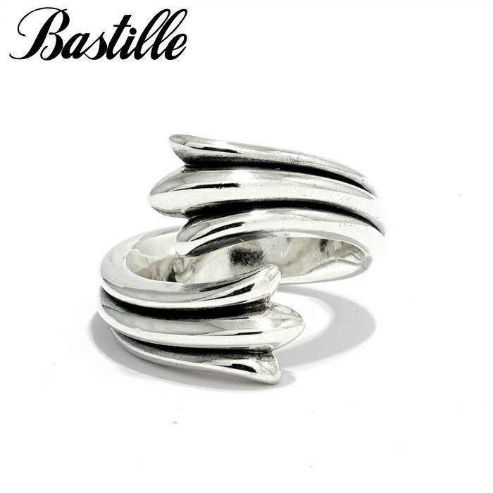【Bastille/バスティーユ】パディタイユリング シルバーリング ユニセックス クロス 先端 巻く 包みこむ