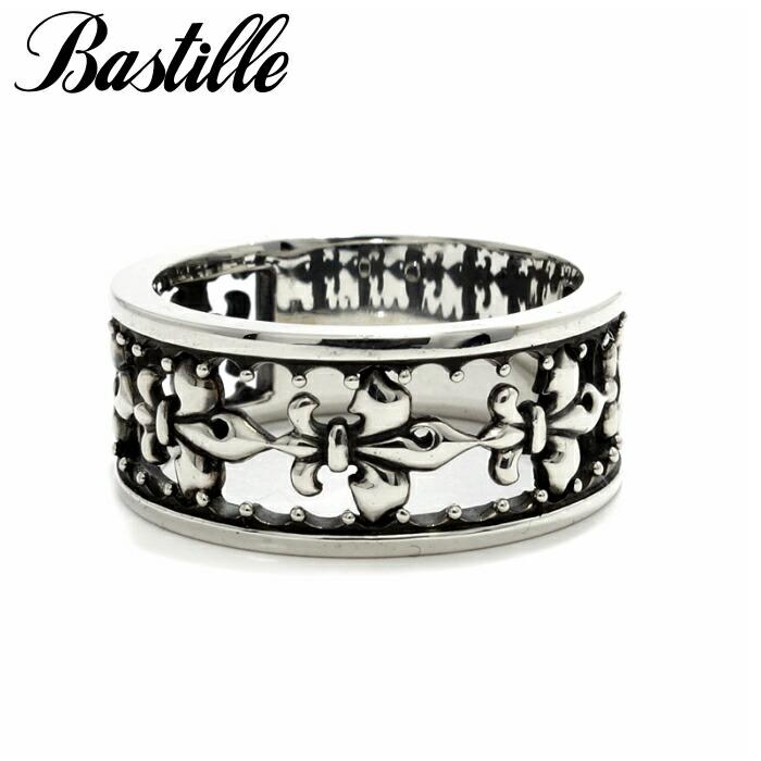 【Bastille/バスティーユ】フィルリング シルバー925 メンズアクセサリー ペアリング リング Lily 百合 透かし