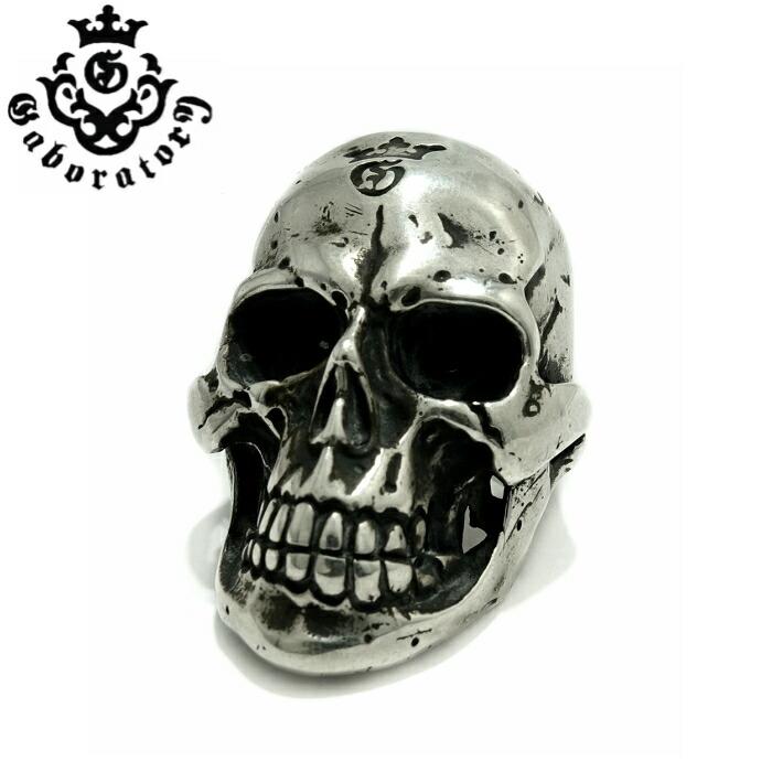【Gaboratory/ガボラトリー】LARGE SKULL RING WITH JAW/ラージスカルリングウィズジョウ スカルリング 顎付き シルバーアクセサリー メンズアクセサリー silver925 シルバーリング Ring スカル Skull マリア