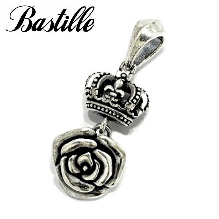 【Bastille/バスティーユ】シュシュペンダント シルバー925 薔薇 ローズペンダント クラウン 王冠 レディース ギフト プレゼント