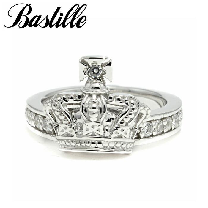 【Bastille/バスティーユ】ブリアンマンス リング シルバー シルバー925 王冠 クラウン パヴェ CZ