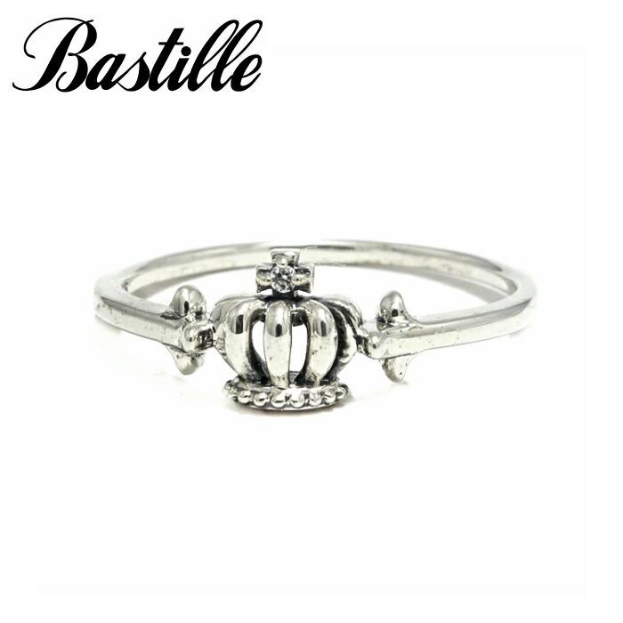 【Bastille/バスティーユ】プチトリアノン リング シルバー ピンキーリング 王冠 クラウン ダイアモンド